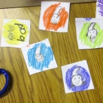 Character tokens, 1st grade