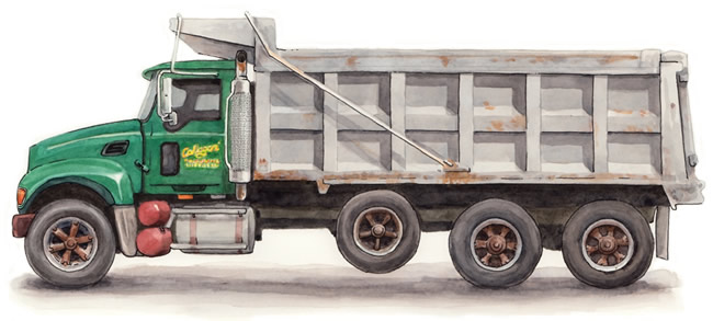 Dump truck watercolor