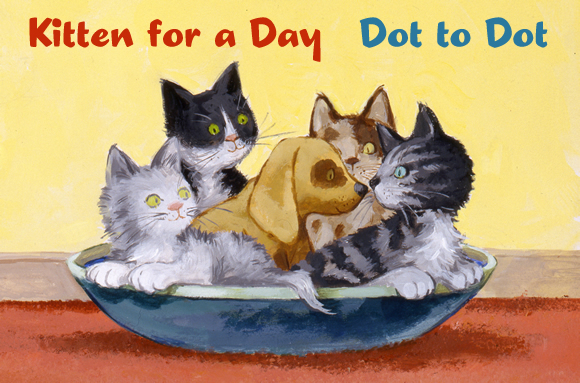 kitten for day, keats, connect dots