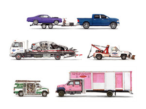 trucks watercolor