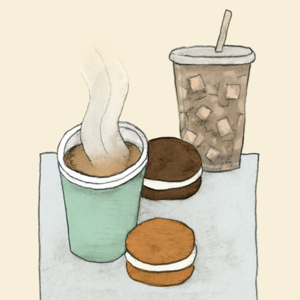 drawing of whoopie pies