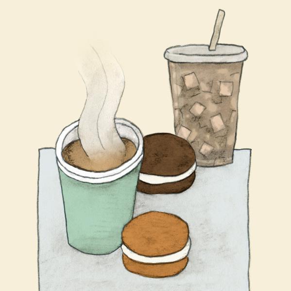 drawing of whoopie pies