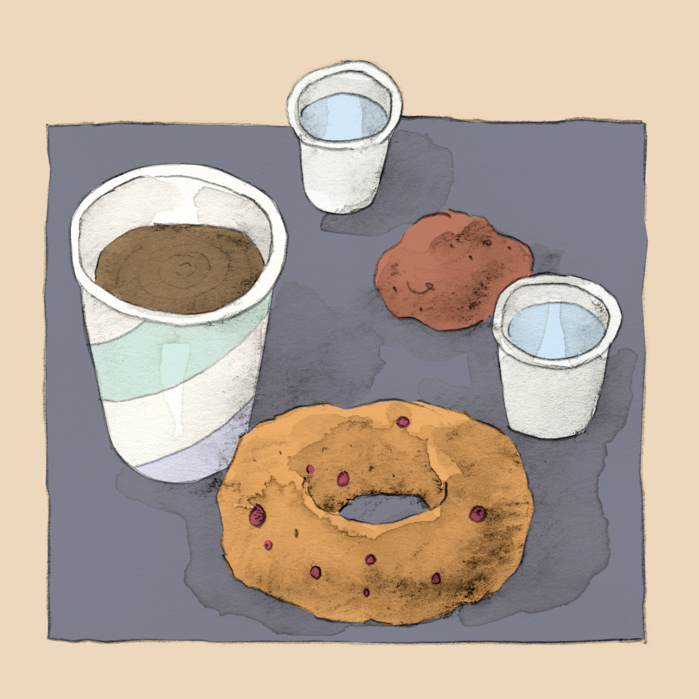 drawing of tea